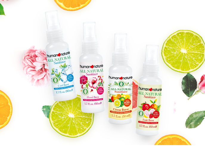 NEW! All-Natural Spray Sanitizers
